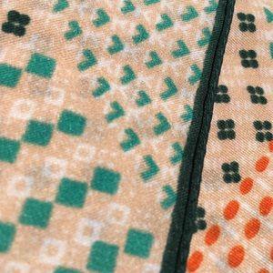 Vintage Accessories - Vintage Italian Miniature Geometric Scarf